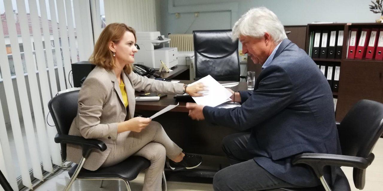 O Πρόεδρος του Ο.Κ.Π.Α.Π.Α Δημήτριος Πάνου υποδέχτηκε στο γραφείο του, την Βουλευτή της Ν.Δ. κα. Μαρία Κεφάλα